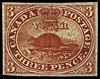 The Three Penny Beaver stamp